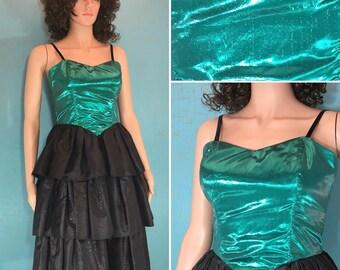 Emerald Eighties Evening Dress