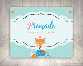 4315fc7963351 Blank/DIY Fox Garden Girl Business Card Printable Floral Fox