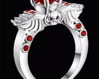 Red and Silver Mina Ring