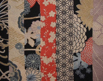 Fabric Japanese chirimen morif in band
