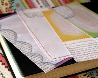 Journaling Tags - Text Me - whimsical and artsy with snippets of text