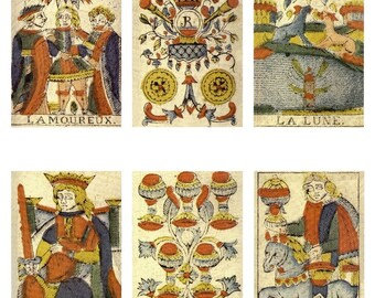 Instant Download - Digital 1804 Tarot Cards Collage Sheet for Scrapbooking, Paper Arts, Mixed Media, Jewelry and MORE PSS 0562