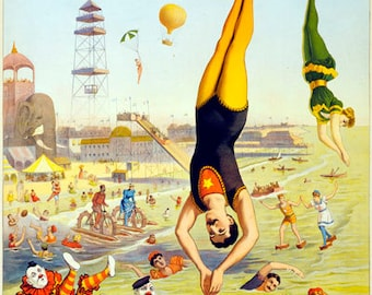 TZ62 Vintage Barnum Circus Carnival Advertising Poster Re-Print Wall Decor A1/A2/A3/A4