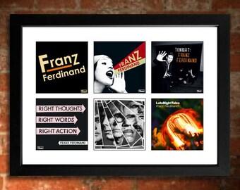 FRANZ FERDINAND Vinyl Albums Limited Edition Unframed A4 Art Print mini poster