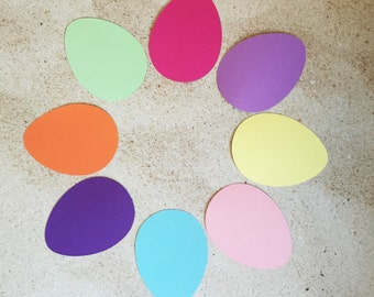 30 Easter Egg Cut Outs - Kids Easter Crafts/Activity - Blank Egg Cut Outs - You Choose Color and Size