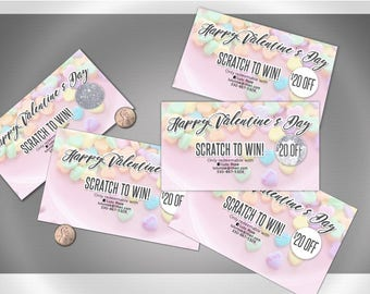 Valentine's Day / Holiday Scratch Off Card