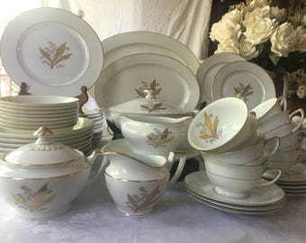 Heinrich Germany Fine China Set Heavy Gold Gilt Lily of the Valley & German fine china   Etsy