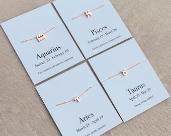 Zodiac necklace, Taurus necklace, Taurus gift, birthday gift, May birthday gift, May birthday necklace, Taurus star sign
