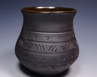 Made to order Viking drinking cup.  Functional art.  Handmade pottery. Anglo Saxon
