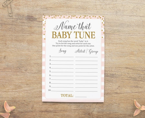Baby Shower Girl Songs ~ Name that baby tune the song girl shower