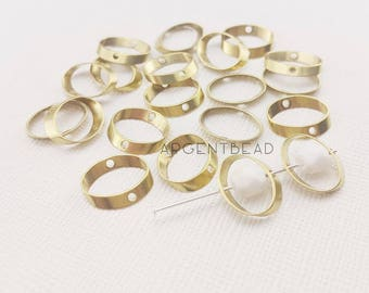 20pcs 12*13mm Oval Bead Frame. Jewelry beads, metal, lead-free, cadmium-free, bead component, jewelry component, bead frame. AG08