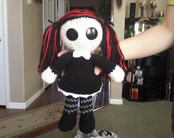 Gothic Amigurumi Doll
