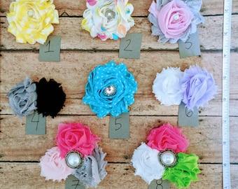 Shabby Flower Clips