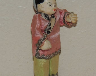 Old 4 inch Chinese Man Figurine/Doll