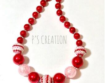 Valentine's Chunky Necklace, bubblegum necklace