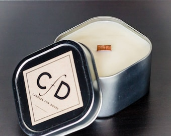 """Proper Man Candle - Our """"DapperDan"""" Soy Candle 4 or 8 oz"""