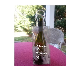 Personalized Ice Bag Wine Cooler