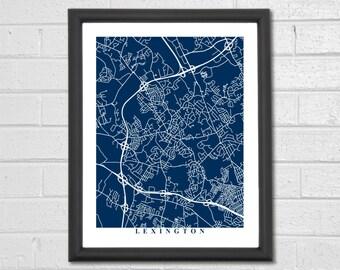 Lexington map etsy lexington map art map print massachusettes map print home map wedding publicscrutiny Images