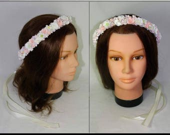Bridal Crown from cold porcelain