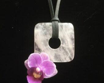 Rose Quartz Necklace Healing Chakra Heart Awakening Crystal Gemstone
