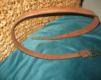 Oiled Chamois Cowhide Belt