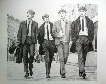 The Beatles - Original Graphite Drawing