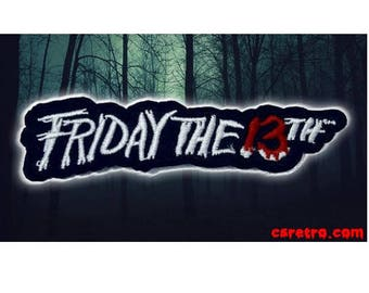Friday the 13th horror movie iron on patch