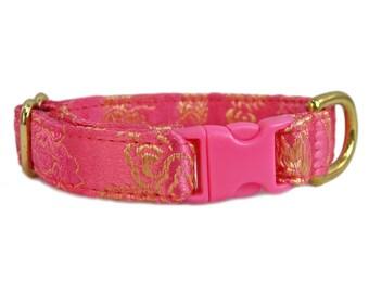 Chihuahua Collar, Small Dog Collar, Tag Collar, Pink Dog Collar, Soft Dog Collar, Custom Dog Collars, Girl Dog Collar, Fancy Dog Collar