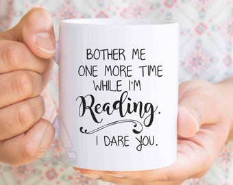 Reader gifts, readers, literary mug, book lover mug, book mug, bookworm for him, bookish items, book lover art, book themed, book mug MU184