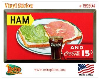Coca-Cola Ham Sandwich 15 Cents Vinyl Sticker - 159504