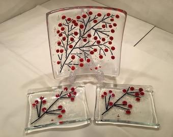 Winterberry Plate set