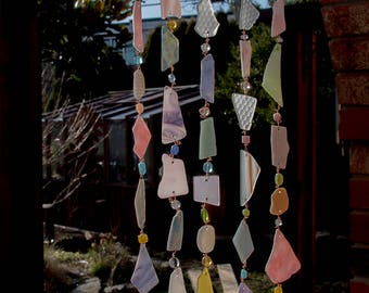 Glass Wind-chime in pastels