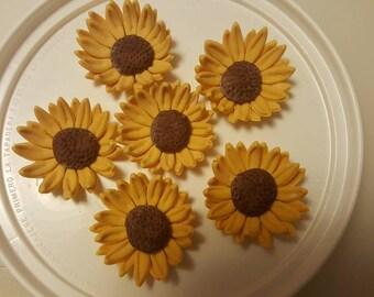 Gum Paste Sunflower  Wedding Cakes, Cupcake Toppers, Cake Pops, Shower Cakes, Birthday Cakes