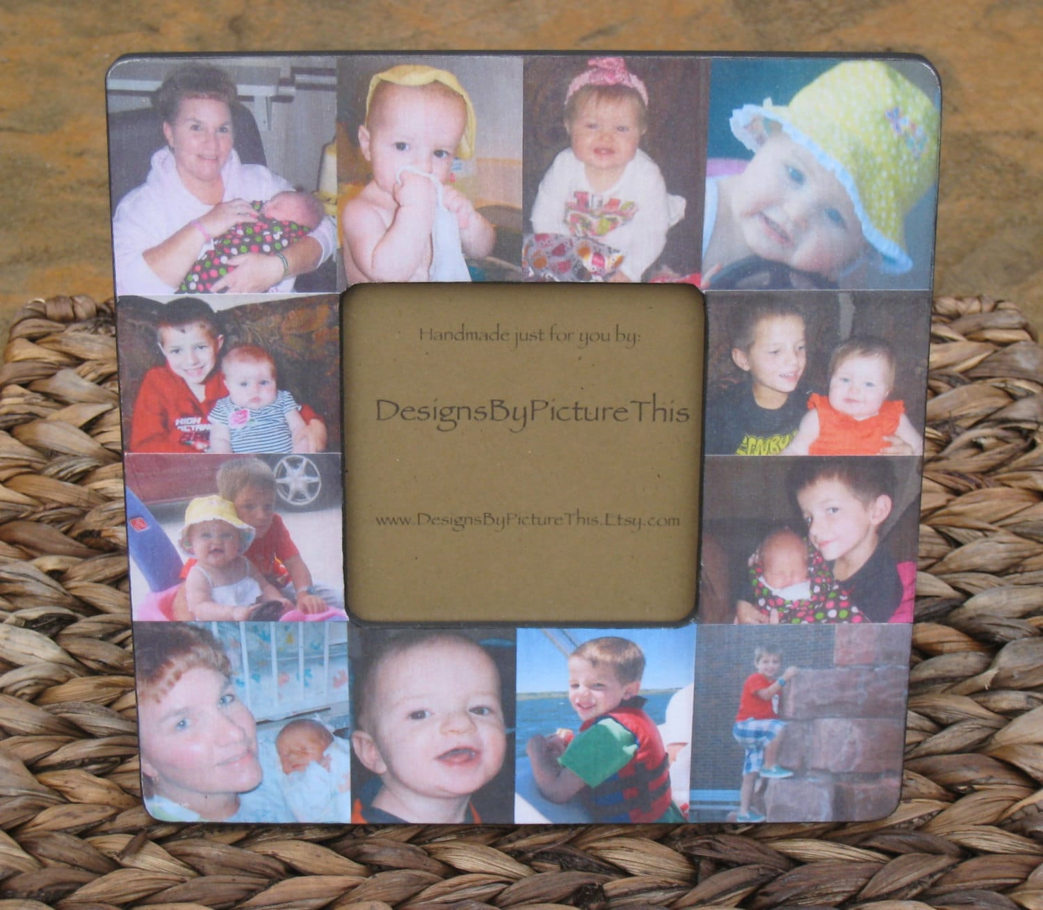 Baby\'s First Year Collage Picture Frame Unique Custom