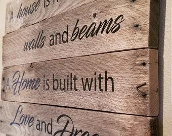 A House vs A Home