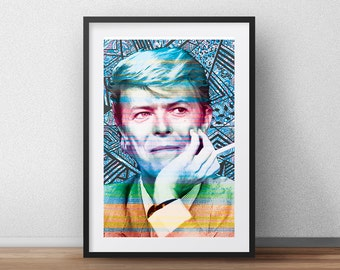 David Bowie Art Print - Original Art Print -  Graffiti - splatter - street art - poster