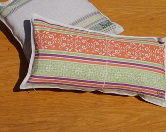 linen pillow 30x60cm handmade with Greek motif