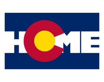 Colorado Flag Bumper Sticker - Home