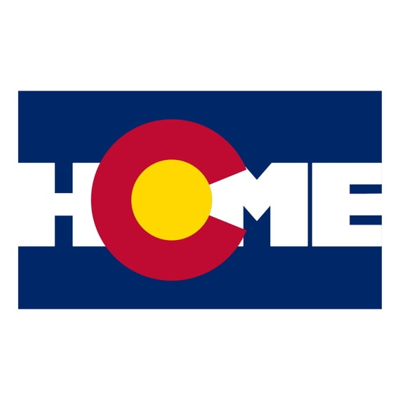 Colorado flag bumper sticker home