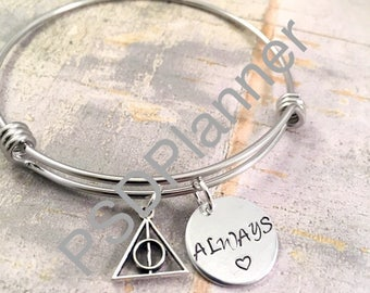 Always bracelet, bangle bracelet, charm bracelet, couples, wizard, birthday, mother daughter, sorority sister, best friend gift