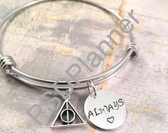 Always bracelet, bangle bracelet, charm bracelet, couples, wizard, birthday, mother daughter, sorority sister, best friend gift