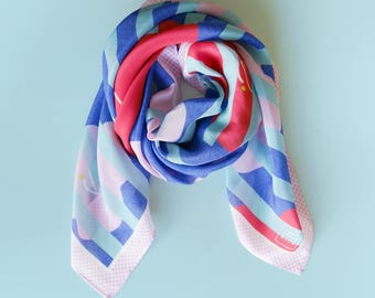 Pop Your Cherry (Blossom)! Silk Scarf // Large square scarf
