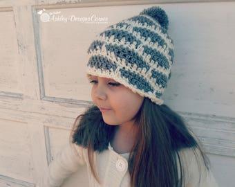 Crochet Pattern Brooklyn Beanie - PDF - Instant Digital Download (Newborn - Adult)