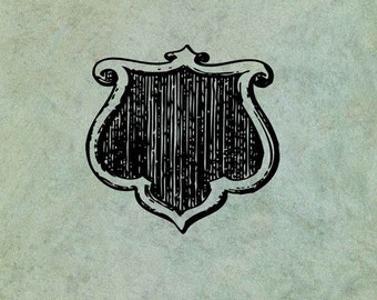 Shield - Antique Style Clear Stamp