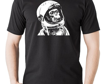 Chimp T-Shirt Stylish Astronaut Monkey Tee Shirt