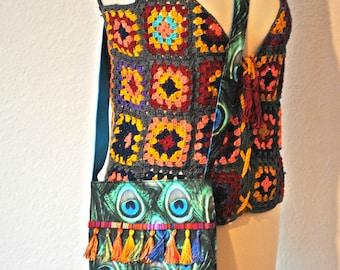 Shoulder bag Boho Chic-tablet bag