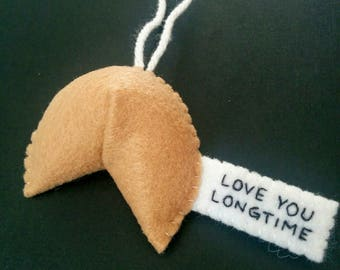 Drôle Noël ornements coquine fortune cookie t'aime depuis longtemps