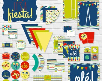 Fiesta PRINTABLE Party by Love The Day