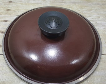 Brown Vintage Club Pot Lid, 1960s-1970s