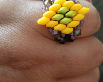 Exotic Orchid Ring